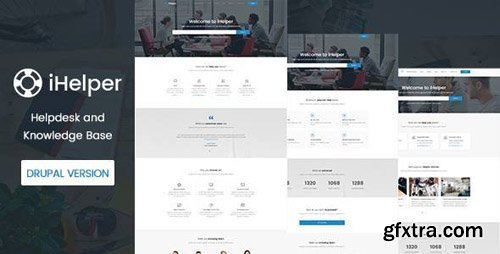 ThemeForest - iHelper v1.0 - Drupal Knowledge & Helpdesk Theme - 19531633