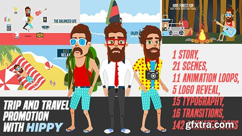 Videohive Trip and Travel Promotion with Hippy 19674801