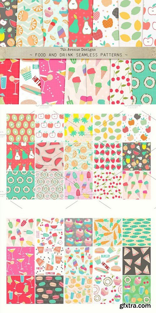 CM - Food and Drink Seamless Patterns 291031