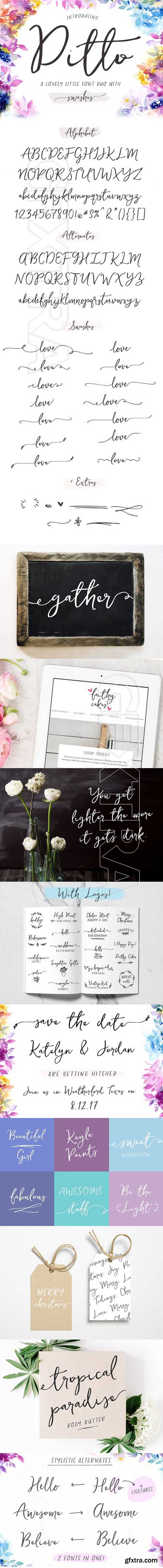 CreativeMarket - Ditto Font + Swashes 1625725