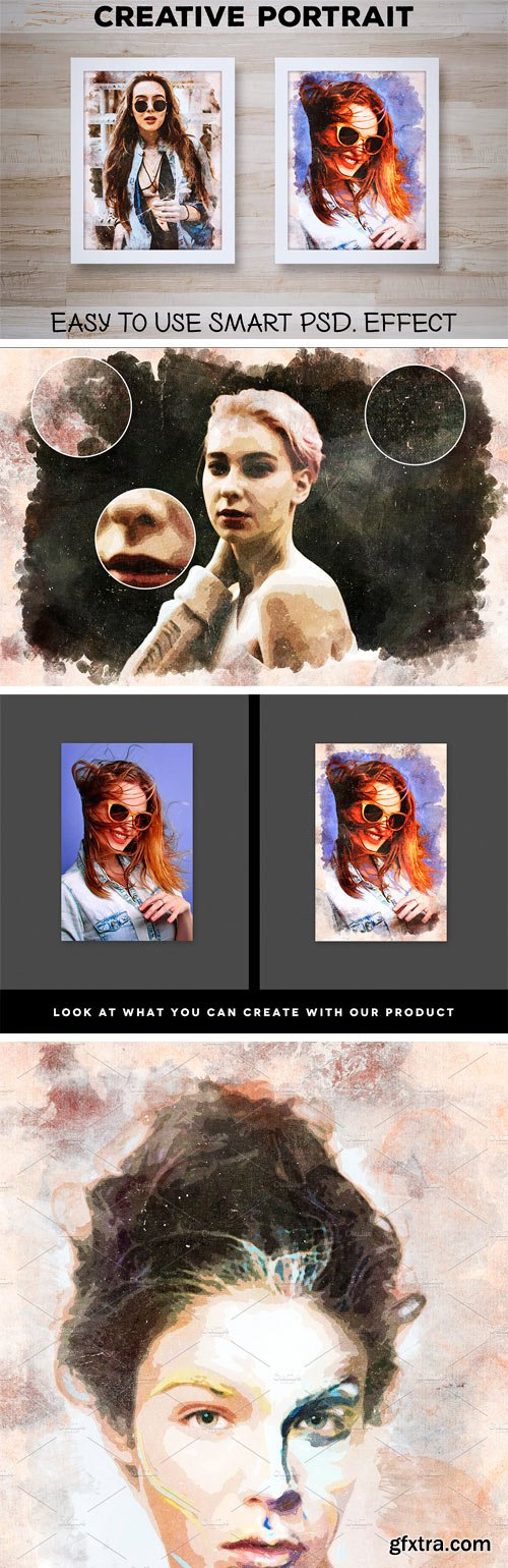 CM - Creative Portrait: Smart PSD. Effect 1829541