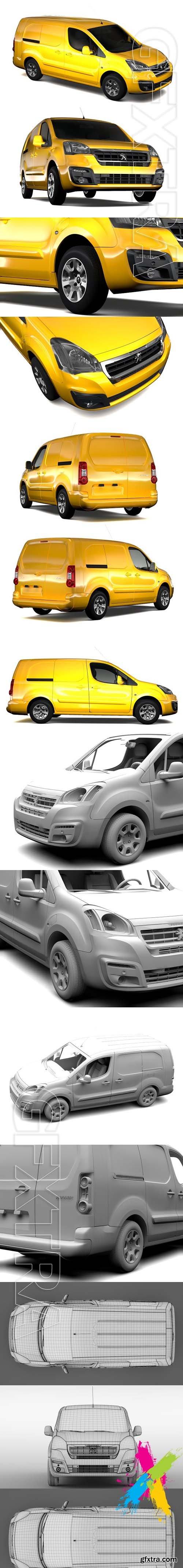 CreativeMarket - Peugeot Partner Van L2 Electric 2017 1844468