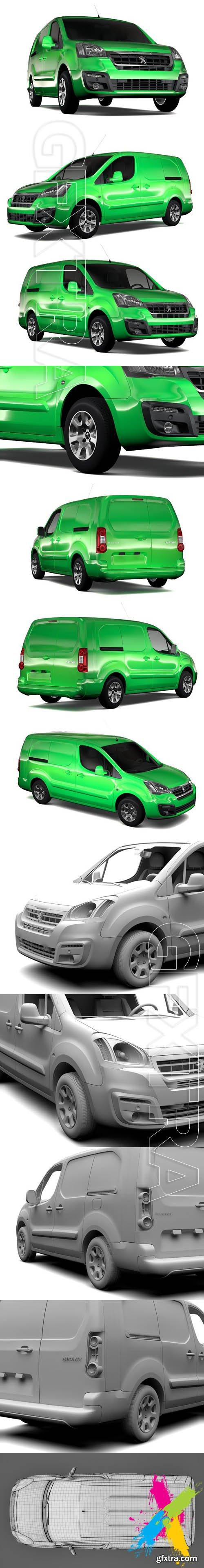 CreativeMarket - Peugeot Partner Van L2 2slidedoors 1844408