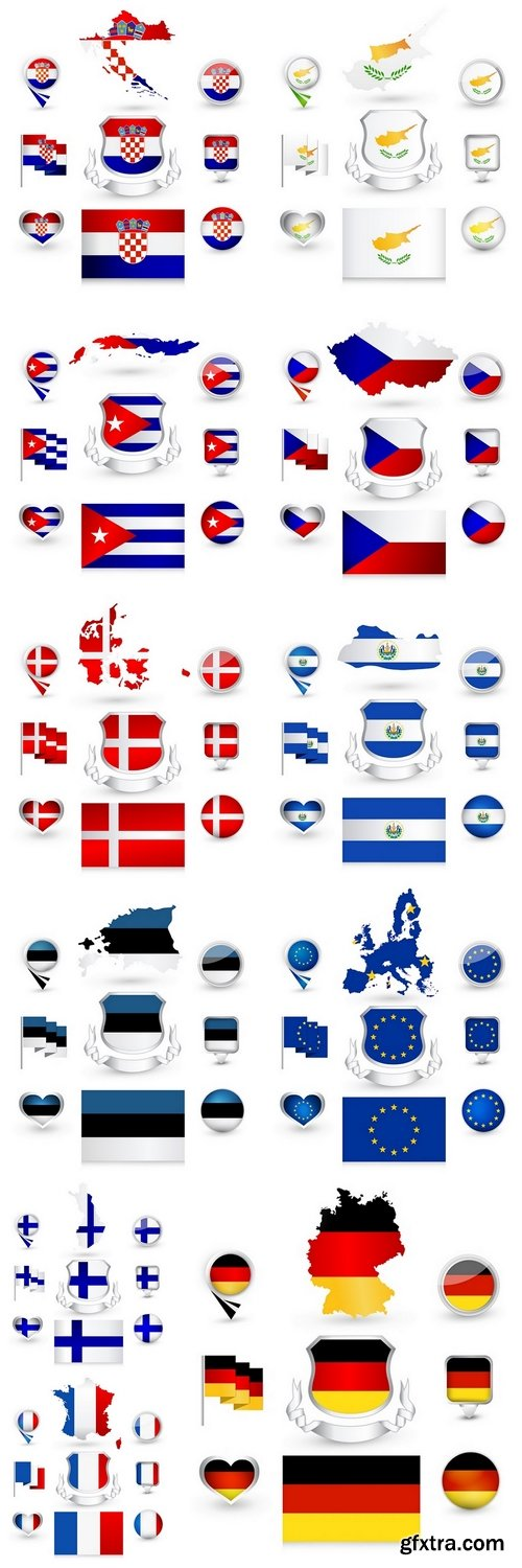 Flag labels Collection 3
