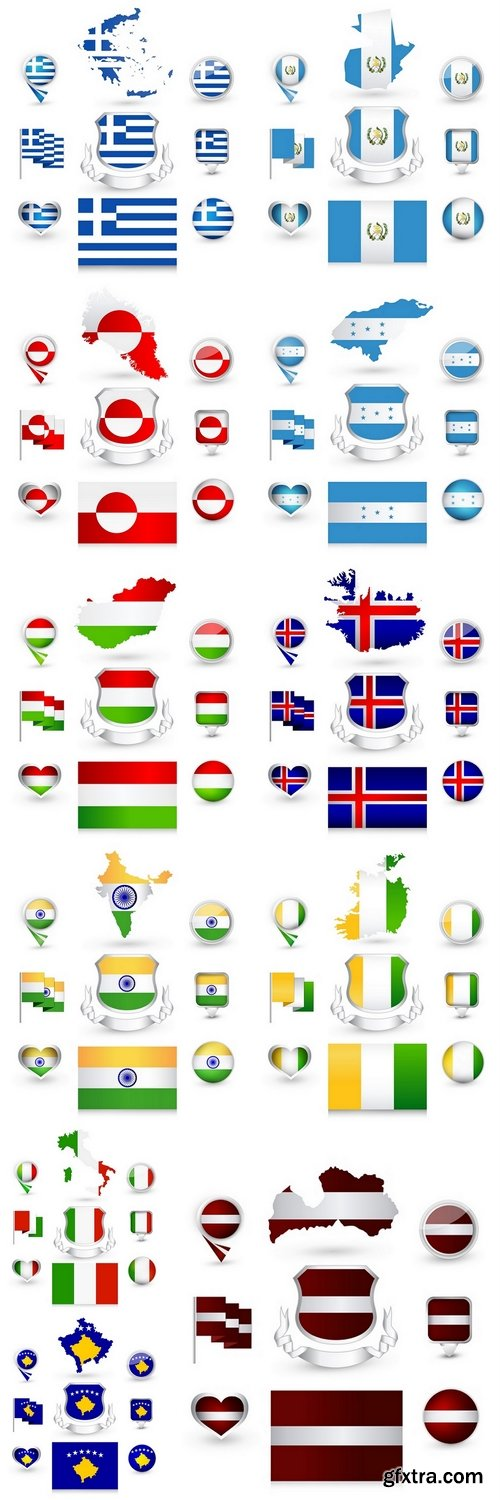 Flag labels Collection 4