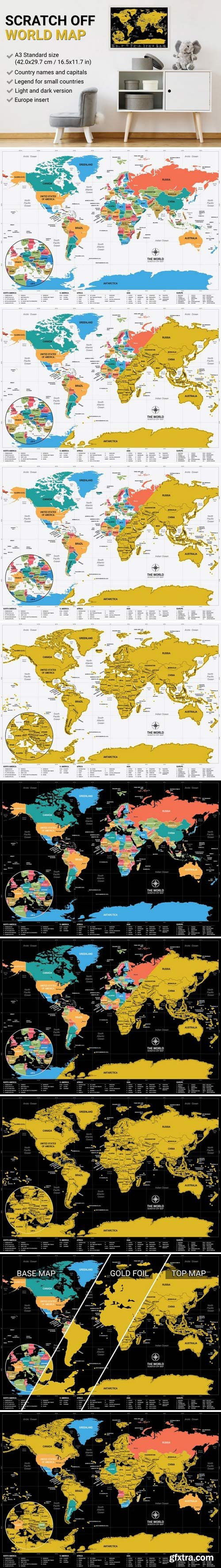 CM - Scratch Off World Map 1834121