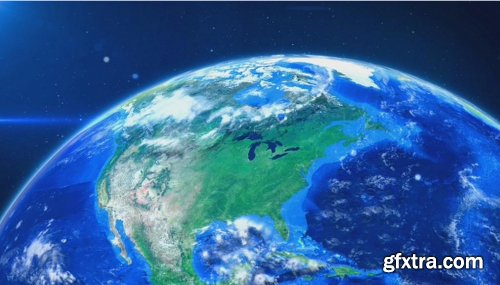 Videohive World Map Earth Zoom V2 8586113