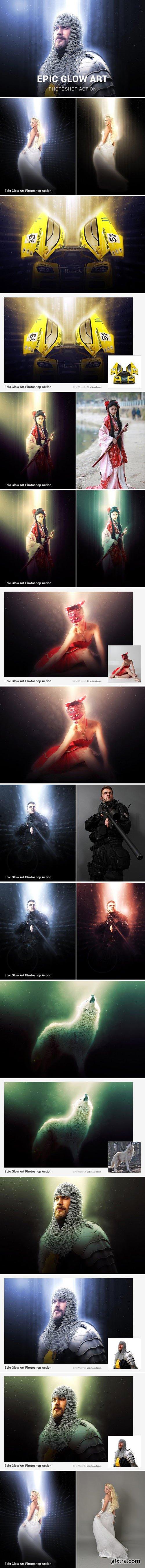 CM - Epic Glow Photoshop Action 1852877