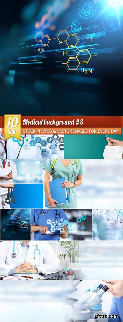 Medical background 3, 10 x UHQ JPEG