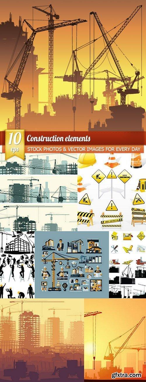 Construction elements, 10 x EPS