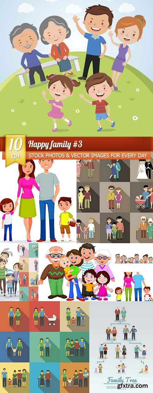 Happy family #3, 10 x EPS
