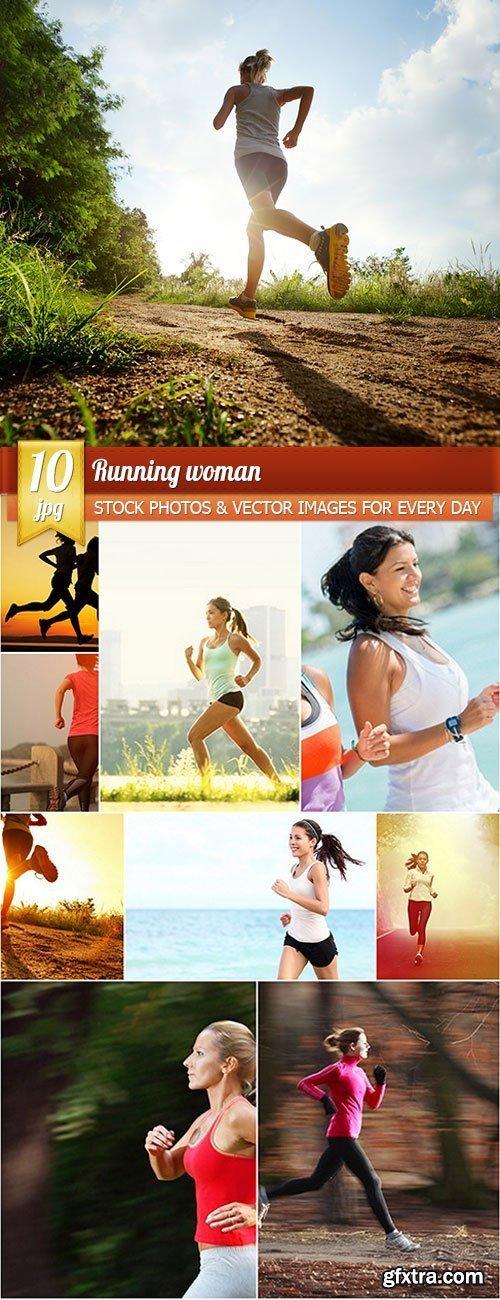 Running woman, 10 x UHQ JPEG
