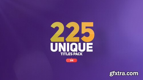 Videohive The Titles V4 16452285