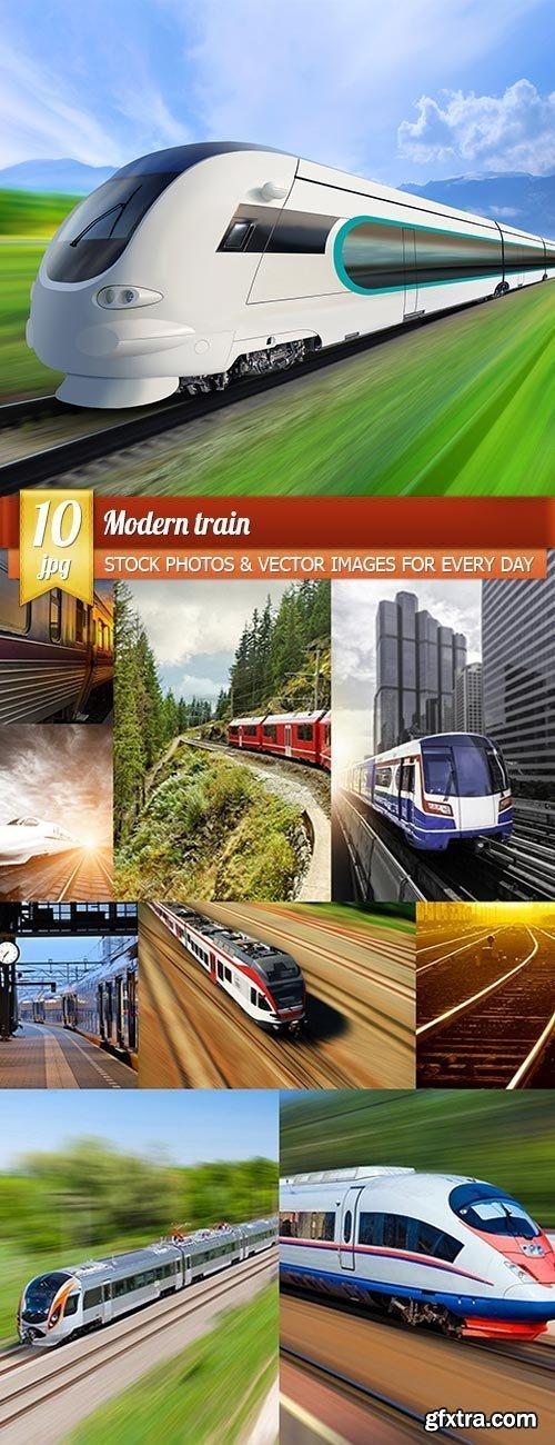Modern train, 10 x UHQ JPEG