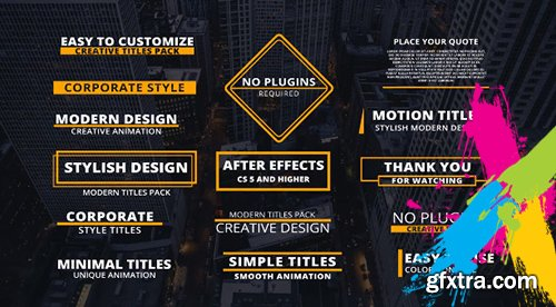 15 Corporate Titles - After Effects