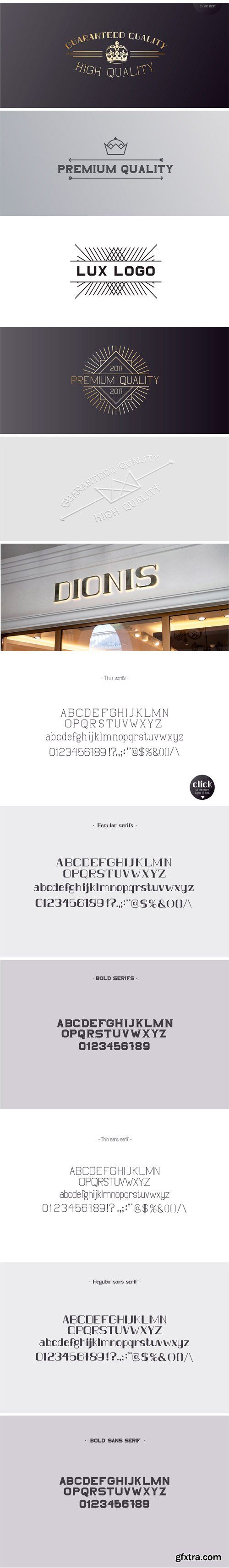CM - DIONIS Set (Serif & Sans Serif) 1939388