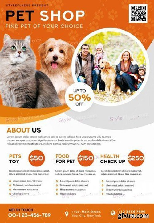Pet shop v02 psd flyer template gfxtra for Puppy for sale flyer templates