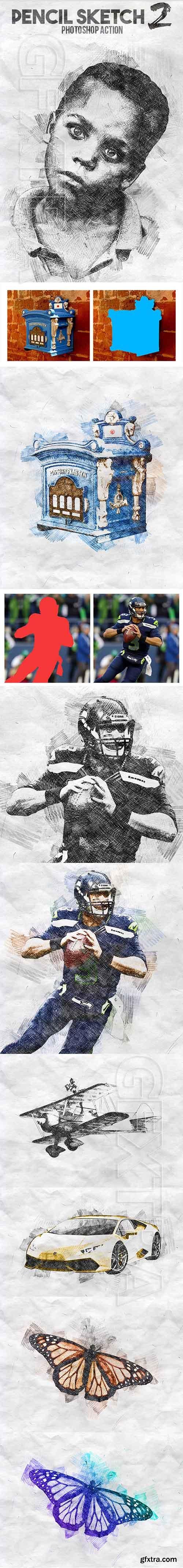 GraphicRiver - Pencil Sketch 2 Photoshop Action 20739406