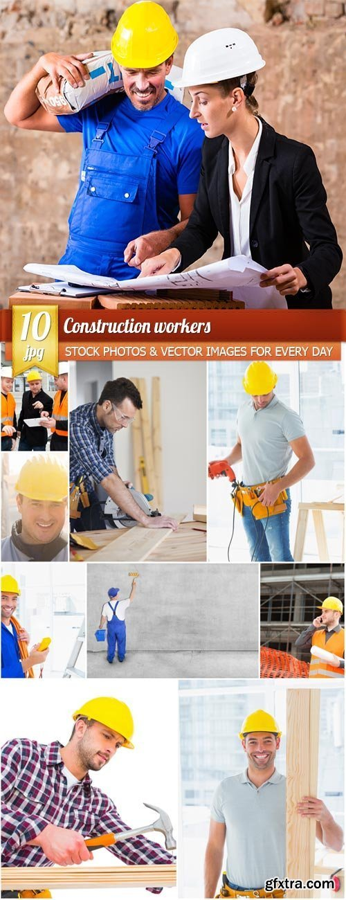Construction workers, 10 x UHQ JPEG