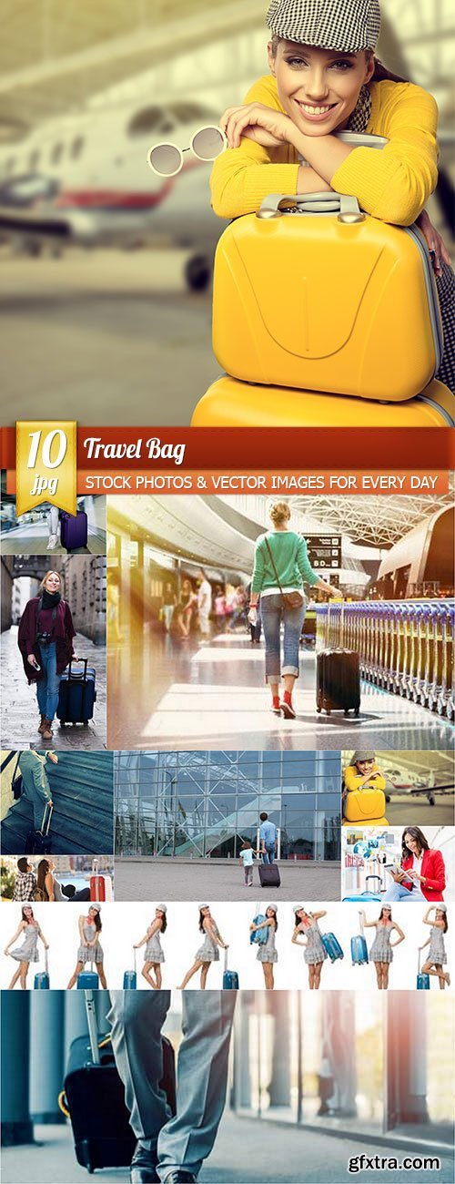 Travel bag, 10 x UHQ JPEG