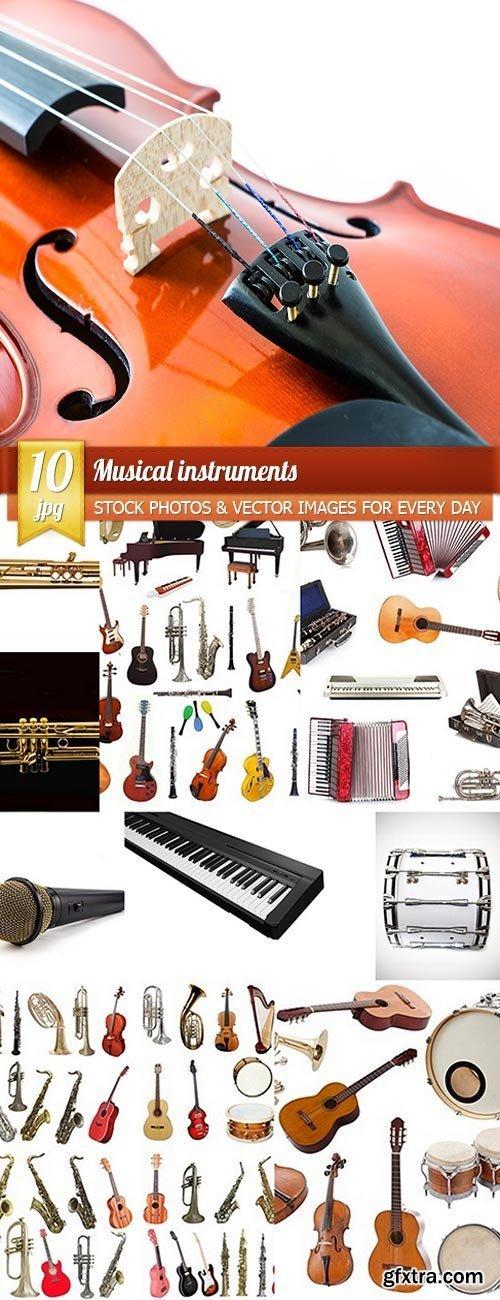 Musical instruments, 10 x UHQ JPEG