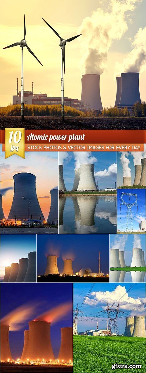 Atomic power plant, 10 x UHQ JPEG