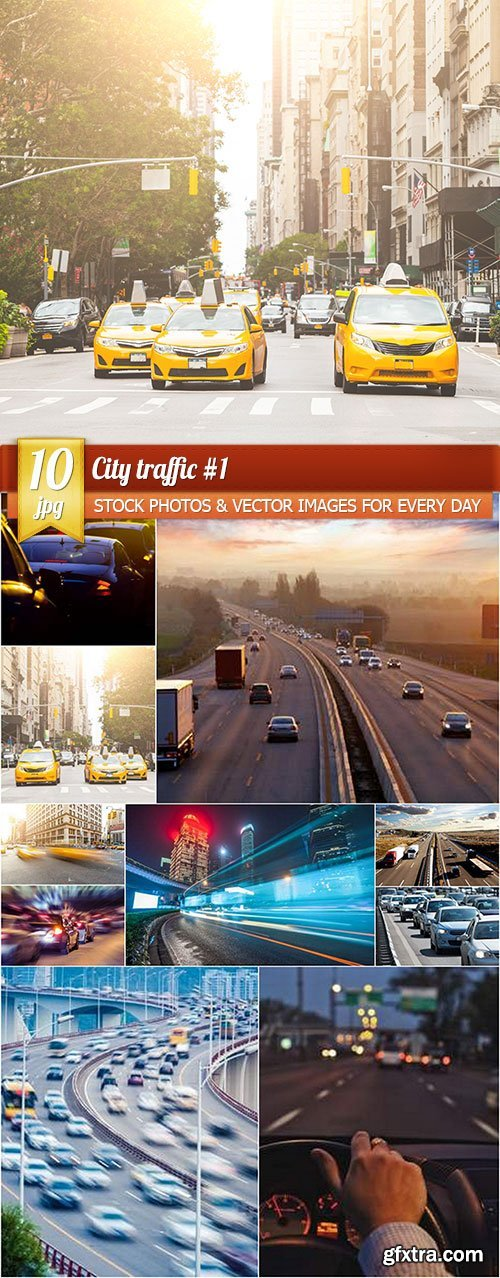 City traffic 1, 10 x UHQ JPEG