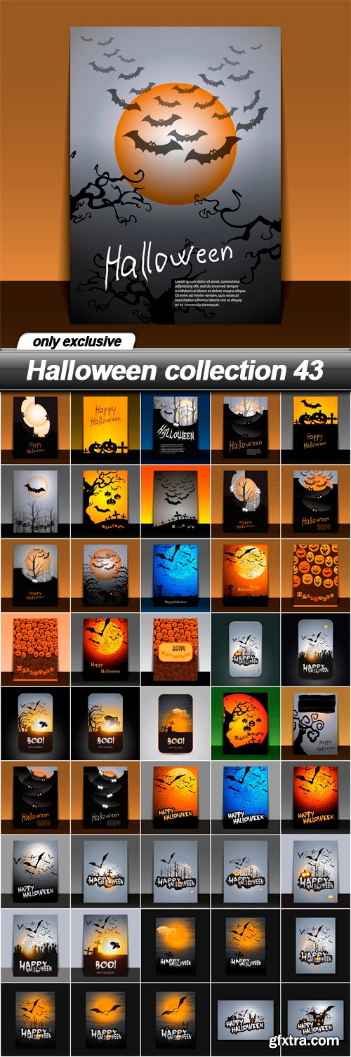Halloween collection 43 - 46 EPS