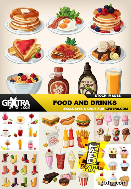 Food And Drinks - 25 Vector