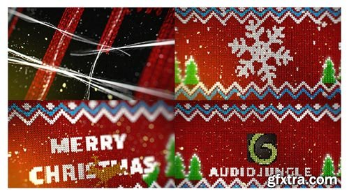 Videohive - Knitted Christmas Sweater Logo Reveal - 19078304