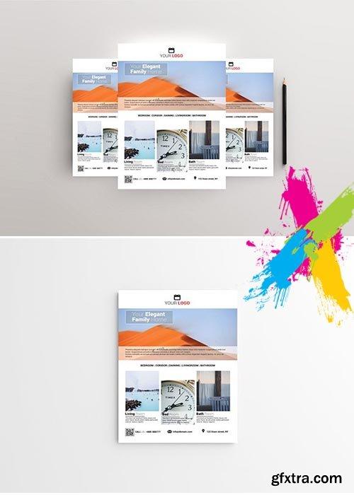 CreativeMarket - Elegant Home - Real Estate Flyer 1968575