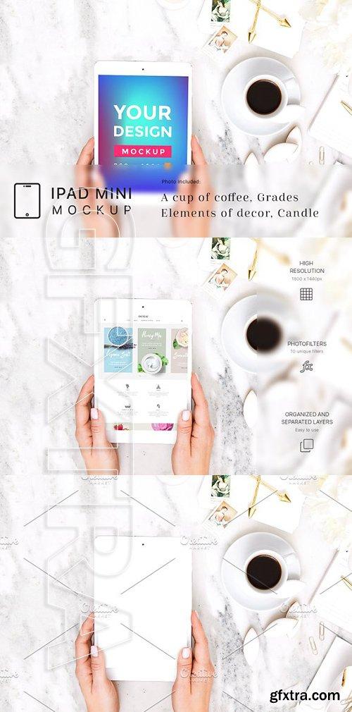 CreativeMarket - Neutral Minimalist iPad Mini Mockup 1985463