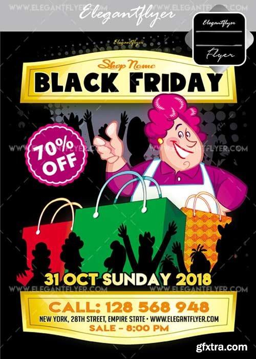 Black Friday V25 Flyer PSD Template + Facebook Cover