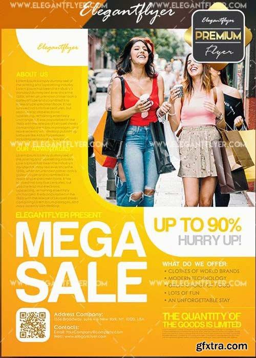 Mega Sale V17 Flyer PSD Template + Facebook Cover