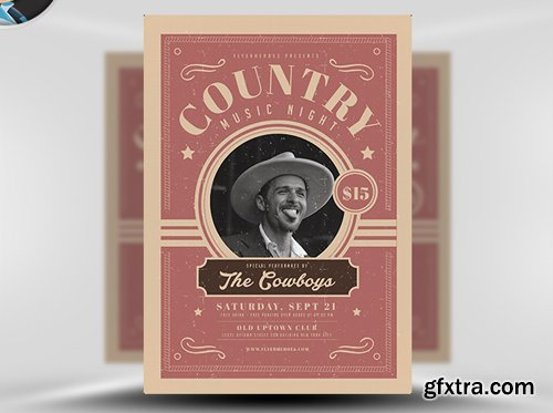 Country Night Flyer Template v1
