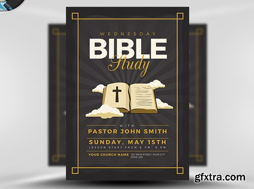 Bible Study Flyer Template v3