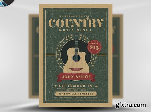 Country Night Flyer Template v3