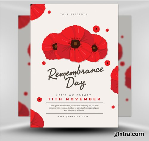 Remembrance Day 2017 Flyer Template
