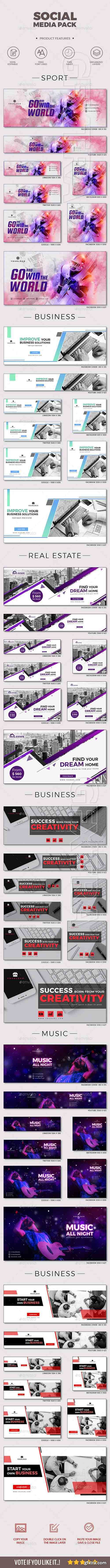 GraphicRiver - 48 Social Media Cover Kit 20834390