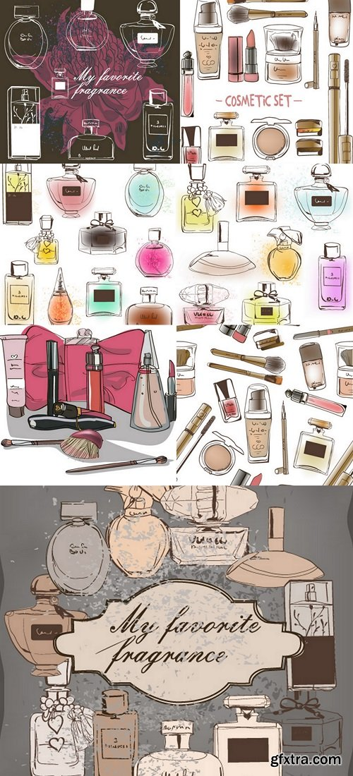 Sets of perfume and cosmetic