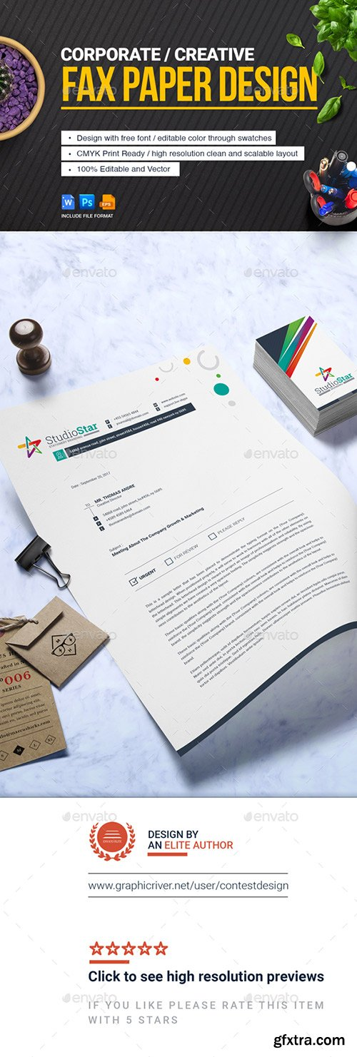 Vector photoshop psdafter effects tutorials template 3d page 4567 graphicriver fax paper cover sheet letterhead design template 20766505 spiritdancerdesigns Choice Image
