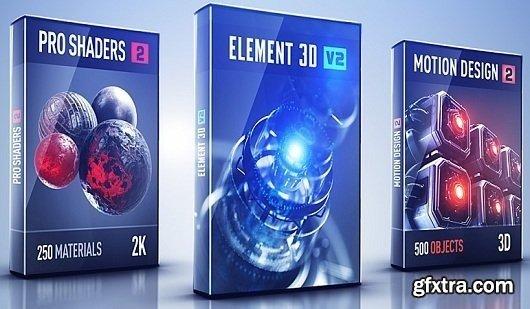 Video Copilot Motion Design 2 + Backlight + ProShaders 2 & Element 3D v2.2.247