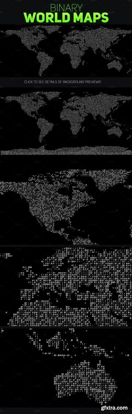 CM - 5 Binary World Maps 1367224