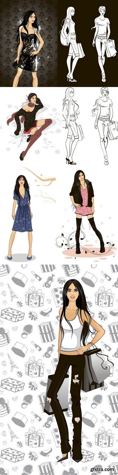 Vector Fashion Girls