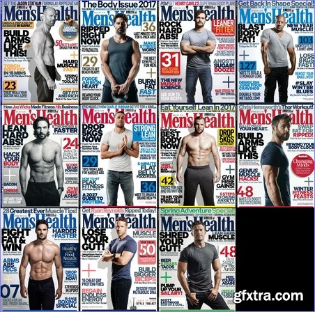 Men\'s Health UK - 2017 Full Year Issues Collection