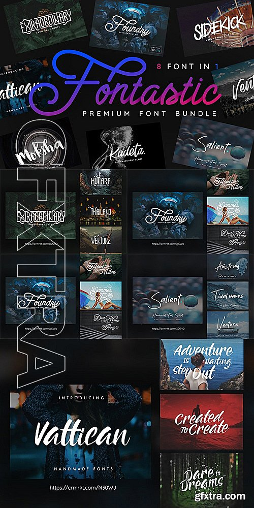 CM - 8 in 1 Font Bundle - Fontastic 1385616