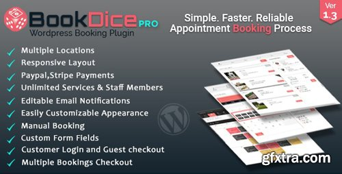 CodeCanyon - Appointment Booking and Scheduling for Wordpress - BookDice v1.0 - 20682459