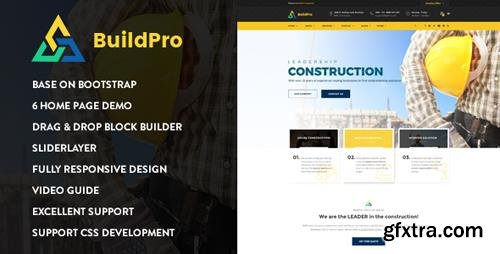 ThemeForest - BuildPro - Construction Drupal 8 Theme (Update: 28 April 17) - 19481212