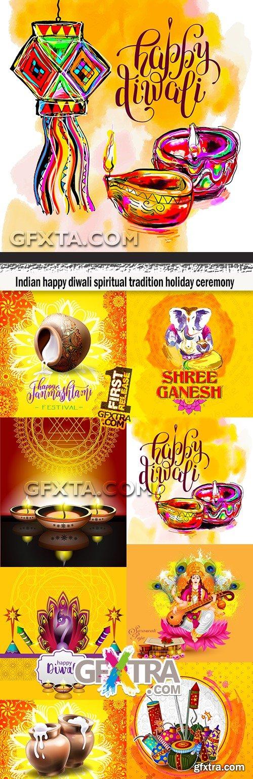 Indian happy diwali spiritual tradition holiday ceremony