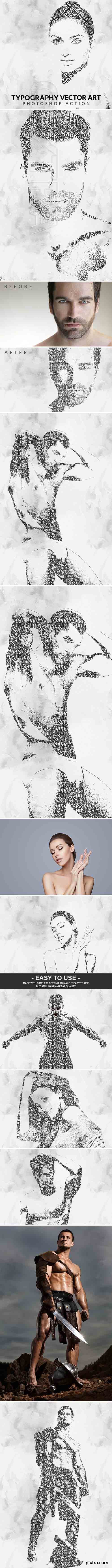 GraphicRiver - Typography Vector Art Photoshop Action 20932469